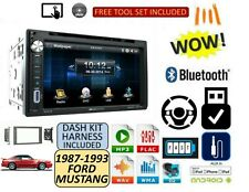 FORD MUSTANG 1987-1993 Dvd AUX TOUCHSCREEN Bluetooth USB Stereo Kit