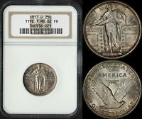 USA 25 CENTS 1917-D TYPE 1 (NGC MS62FH) *BEAUTIFUL EYE-APPEAL*