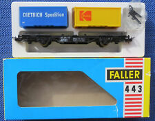 Faller Ams 443 Vagone con Container Scatola Originale Raro