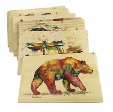 Wile E Wood Bartholet's Rainbow Animal Series Wood Mailable Postcards 8 Choices