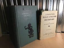Malay English Dictionary 1959, English Malay Unabridged 1960, Winstedt