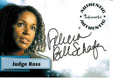 SMALLVILLE SEASON 3 AUTOGRAPH CARD A22 OF FELECIA BELL-SCHAFER AS JUDGE ROSS