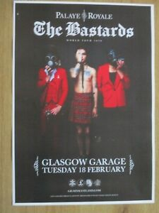 Palaye Royale - Glasgow feb.2020 live music show memorabilia concert gig poster