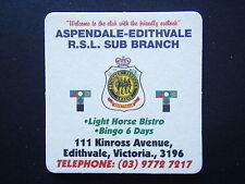 ASPENDALE-EDITHVALE RSL SUB BRANCH 111 KINROSS AVE 0397727217 COASTER
