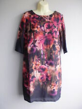 Pomodoro Stripe and Floral Print Tunic Shift Dress Size 10