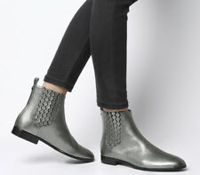 Womens Ted Baker Liveca Boots Gunmetal Leather Boots