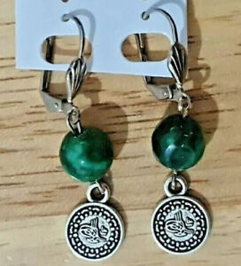 Ottoman Gypsy Traditional Beaded Coin Costume Earrings