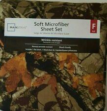 Mainstays Microfiber Sheet Set, Full, Camo
