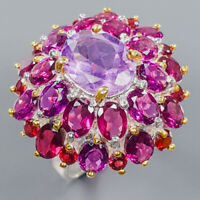 Amethyst Ring Silver 925 Sterling Special Discount Price! Size 8 /R139400