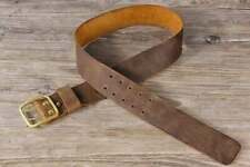 Heavy duty leather work bushraft belt , two prong men equipment gear belt