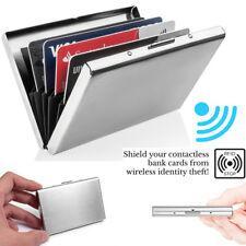 Metal Alumínio Slim Anti-Scan titular do cartão de crédito Rfid bloqueio Fina Case Carteira