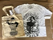 Faile Studio T- Shirt Vision Victoire White Lg- W/ Silkscreened Tote Sold Out!