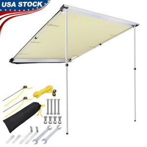 Car Side Awning Rooftop Pull Out Tent Shelter PU UV Shade Outdoor Camping Travel