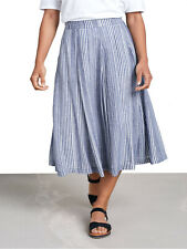 EX SEASALT Blue Linen Blend Grignette Voyage Sandbank Skirt Sizes 8-18 RRP £65