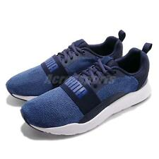 Puma Wired Knit Peacoat Sodalite Blue White Men Running Shoes Sneakers 366971-02