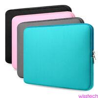 "BLACK Zipper Sleeve Bag Case Cover for All Laptop 13"" 15"" Macbook / Pro / Air zz"