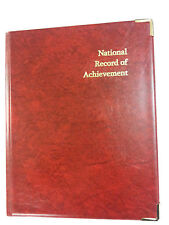 Qty 2 national record of achievement - RED/GOLD