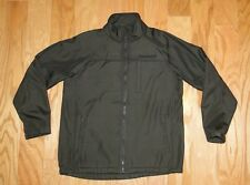 Boy's Timberland Fleece Lined Zip Up Jacket Size L 16-18 Brown Water Resistant
