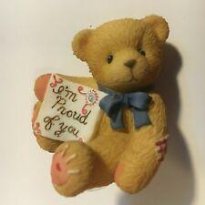 "Ultra Very Rare Cherished Teddies 477478 Bear note ""Proud of You"" Mint Nib 3"