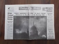 DAILY MAIL WWII NEWSPAPER DECEMBER 31st 1940 - BLITZ ON LONDON