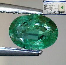 Gioielli e gemme di smeraldo naturale verde ovale