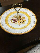 Stangl Pottery SERVING/Desert Plate w/ Metal Handle -Provincial Design