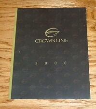 Original 2000 Crownline Boat Full Line Foldout Sales Brochure 00
