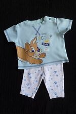 Baby clothes BOY newborn 0-1m outfit Disney Scamp puppy long/s top/soft trousers