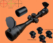 Eagle 4-16x40 AO R/G Turrets W/Lock/Reset Mil Dot Rifle Scope W/2 Kinds of Rings