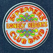 THE BEATLES ST PEPPERS LONELY HEARTS CLUB BAND LOGO IRON ON EMBROIDERED PATCH