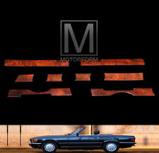 Mercedes SL 107 560SL 450SL 380SL Burl Dash Wood Strip Trim Kit Panel Germany