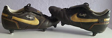 Ronaldinho 10 Nike Football Boots, Black & Gold, Rare, UK Size 7.