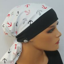 Kopftuchmütze/Chemomütze maritim mega weich  Chemo Turban Chemokopftuch