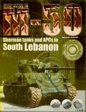 Blue Steel Book Israel Sherman M50 Tanks in Lebanon South Lebanon Army