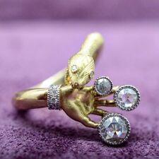 White Sapphire Wedding Rings Size 6-10 Fashion Snake 18k Gold Women Men's Ring