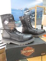 NEW Harley Davidson Mens Leather Boot Boots Shoes Medium Black Wyatt