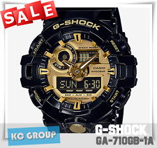 G-SHOCK BRAND NEW WITH TAG GA-710GB-1A BLACK X GOLD COLOR Analog-Digital WATCH