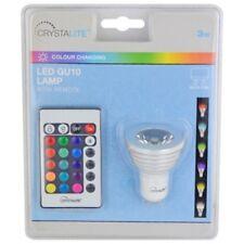 LED GU10 Colour Changing Bulb & Remote Control 3W Status C3LEDG10CC1PKB3