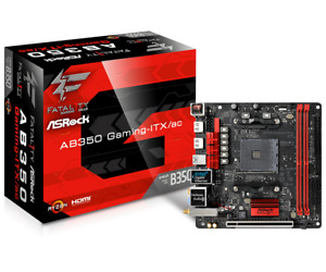 asrock fatal1ty ab350m itx am4 ryzen neustes bios b350 mainboard motherboard m2