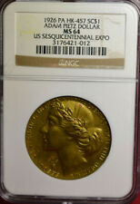 1926 HK-457 Adam Pietz Dollar, NGC MS64 Gilt. US Sesquicentennial, Very Collecta