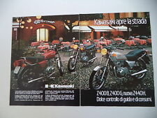 advertising Pubblicità 1982 MOTO KAWASAKI Z 400 G/Z400 Z 400 B/Z 440 H