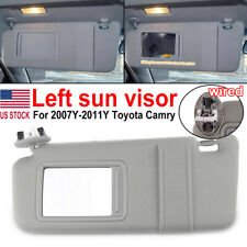 Left Sun Visor for 2007 -2011 Toyota Camry and Camry HV with Sunroof and Light