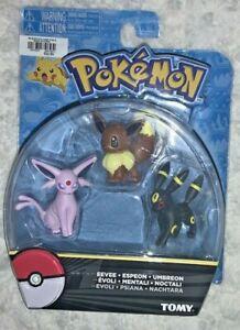 Pokemon TOMY : Umbreon, Eevee & Espeon Mini Figure 3-Pack - Sealed  Rare