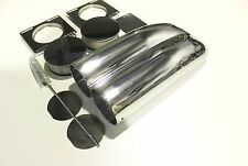 SHOT GUN SCOOP POLISHED ALLOY AIR CLEANER & FILTERS, SINGLE/ DUAL CARB, HOT ROD