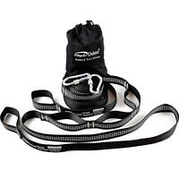 Simple Deluxe 10 12 FT Heavy Duty Tree Hanging Hammock Straps with 2 Carabiners