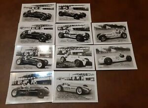 Lot Of 10 Vintage Indianapolis Motor Speedway  Race Car photos 1952