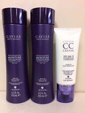 Alterna Caviar Moisture Shampoo/Conditioner/CC Cream trio unisex