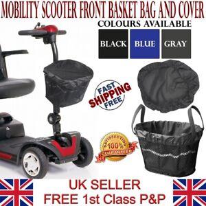 LTG Mobility Scooter Front Basket Bag Liner & Cover Waterproof Reflective Black