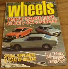 1973.WHEELS.XB FALCON.Holden History.CELICA SUBARU DATSUN SSS.Bathurst Hardie