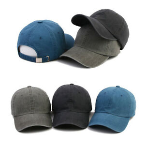 Unisex Mens Womens Mqum Faded Washed Out Baseball Cap Adjustable Trucker Hats